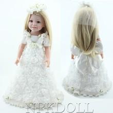 Eco-friendly vinyl baby doll custom american girl doll birthday gift and home decoration 18inch doll american girl