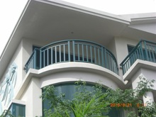 welded aluminium railing for veranda use