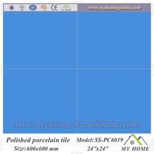 Polished porcelain floor tile design pure blue slate floor tile