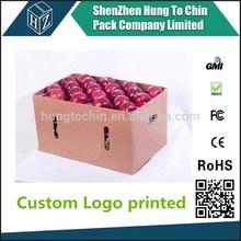 China Factory OEM corrugated cardboard apfel karton