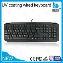 VMQ-30 UV coating waterproof game keyboard usb keyboard for laptop