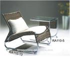 natural lobby rattan lounge chair rattan sunbed