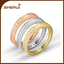 ingrosso donna e uomo 18k oro bianco diamante anello di fidanzamento