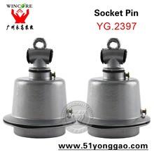 Die Casting Aluminum Lamp Holder Socket Pin for Lighting Lamp Cap