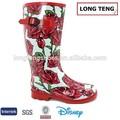 rosa stivali da pioggia scarpe di gomma delle signore