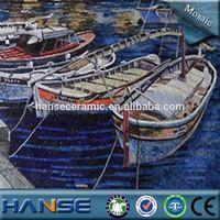 PZ262 foshan beautiful wall deco mural plastic mosaic art