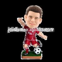 custom make 3d plastic football player bobble heads,3d plastic bobble head of custom designs