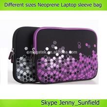 laptop bags flora printed neoprene laptop sleeve 11~19 inch
