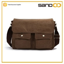 Quanzhou factory wholesale men canvas shoulder bag, messenger canvas bag