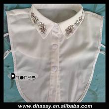 Wholesale fashion detachable collars de moda with rhinestone beaded