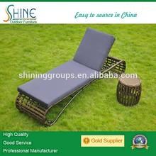 rattan outdoor furniture sun lounger