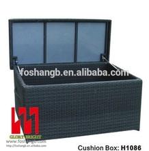 PE rattan outdoor storage cushion box simple design waterproof box