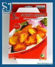Plastic microwave cookware 3 potato bakers