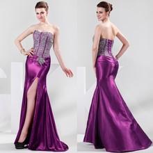 Grace Karin Strapless Sweetheart Split Front Heavy Beaded Long Sexy Prom Dress 2015 CL4421