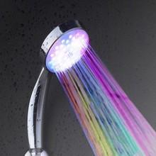 Colorido dínamo levou chuveiro cabeça/chuvas led luz do chuveiro do banho nenhum outro eletice