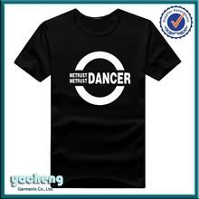 High quality fashion organic cotton t-shirt for school promotions hip hop t-shirt