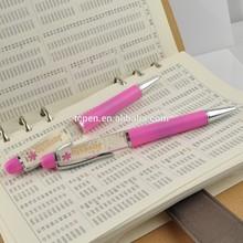 Promotion plasti Liquid pen,Liquid floating pen with 3D floater