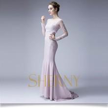 Sherny Bridals elegant chiffon evening dresses long, Elegant Long Sleeve Evening Dresses China