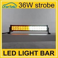Flash white yellow 36w amber led strobe lights 12v waterproof led light bar