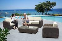 hot sale garden furniture china synthetic rattan sofa set