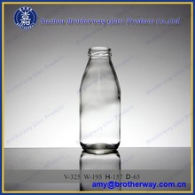 330ml Hot Sale clear milk pudding glass bottle