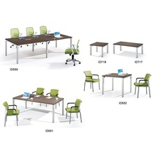 Modern style medium size conference table with metal legs ID550