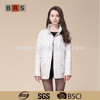 2015 hot sale long women winter white coat model