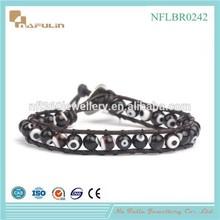 NAFULIN 2015 Fashion Jewellery European murano style crystal glass bead bracelet