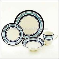 factory manufacturing 4pcs porcelain dinner sets