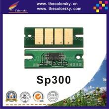 (CS-R300) compatible reset laser printer toner chip for RICOH Aficio SP 300 sp300 406956 BK (1.5k pages)