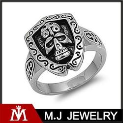 Stainless Steel Tribal Skull Design Ring