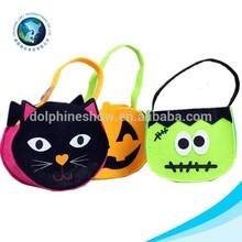 Latest design easter gift and halloween felt basket various shaped felt shoulder bag