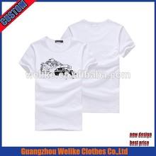 2015 hot selling fashion cotton men's t shirt cheap wholesale white t shirts high quality custom design t shirt