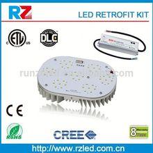 120w Retro fit Kit RetroMax LED Light parking lot shoe box street wall mounts,led high bay light(equal to 400w metal halide)