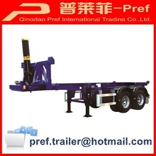 Semi trailer type 2 axles 20ft rear dump trailer chassis/container tipping chassis trailer for sale