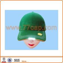 Custom design sandwich LED lighting up baseball cap