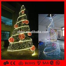 led light Professional Factory Sale!! Popular led spiral christmas tree Spiral Christmas Tree With Decoration