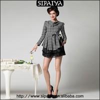 Latest design long sleeve fashion ladies winter tops
