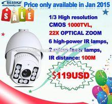 convert analog cctv to ip camera 22x optical zoom 1/3 CMOS Sensor 1000 tvl high speed dome camera PTZ camera