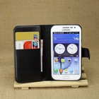 PU leather wallet cover For galaxy vin samsung i8552 case