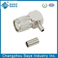 TNC male right angle crimp type for LMR400 CABLE RF CONNECTOR