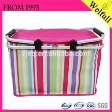 Hot Sale Oxford Fabric Folding Bicycle Picnic Basket Cheap Collapsible wholesale picnic basket