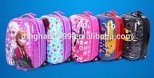Cute frozen/Cartoon Trolley custom leather backpack oem hunting backpack for kids/travel