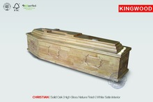 CHRISTIAN christian casket religious wood craft
