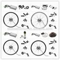 """20 """" 24 """" 26 """" 28 """" 700c arrière de la roue avant de la roue vélo électrique kit avec régulateur de contrôle de vitesse"""