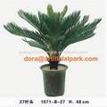 Sjh010609 decorativos de interior de la planta artificial que hace bonsai artificial hojas 27 artificial cycas revoluta/sago