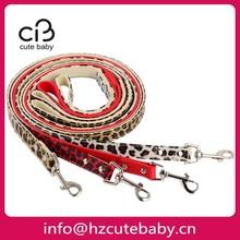 leopard PU leather pet leash