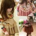 nouveau modèle de fleur filles robe de mode robe enfants