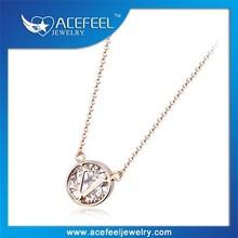 Italina Super Shiny Zircon Diamond Letter v Pendant Necklace For Women 61613