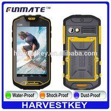 Durable antique Q5 4.5 inch IP68 Waterproof walkie talkie gps tracker cell phone